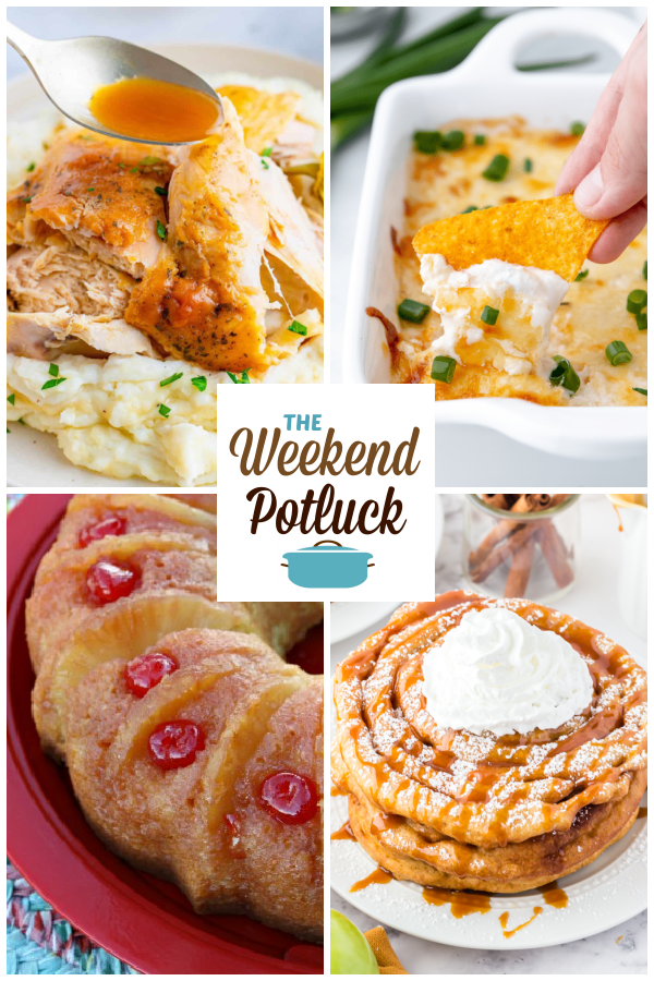 A virtual recipe swap with Crock Pot Mississippi Whole Roasted Chicken, Crab Rangoon Dip, Pineapple Upside Down Bundt Cake, Caramel Apple Funnel Cakes and dozens more!