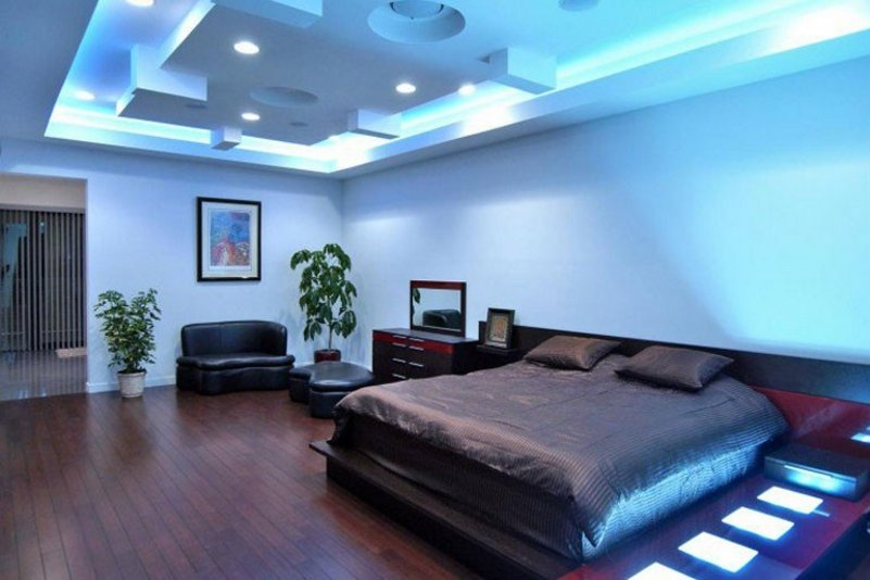 model plafon gypsum kamar tidur yang unik