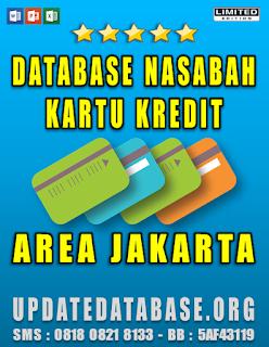 Jual Database Nasabah Kartu Kredit Jakarta