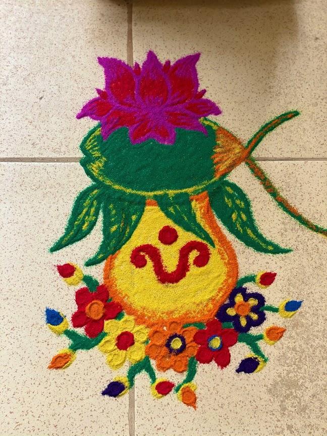 Odia Style Rangoli and Muruja for Panchaka Purnima