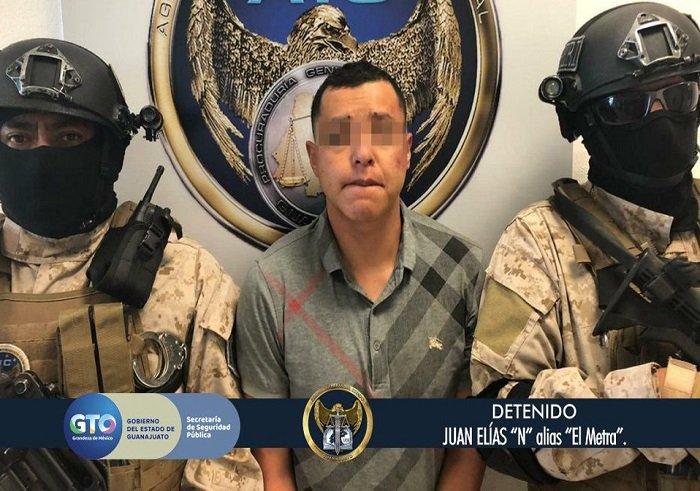 Detienen en Celaya a 'el Metra', presunto líder del cártel de Santa Rosa de Lima