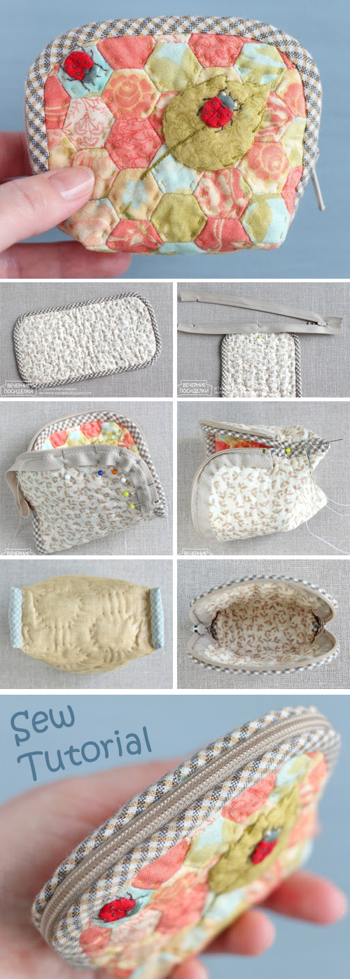 How to Sew a Zipper Pouch Tutorial