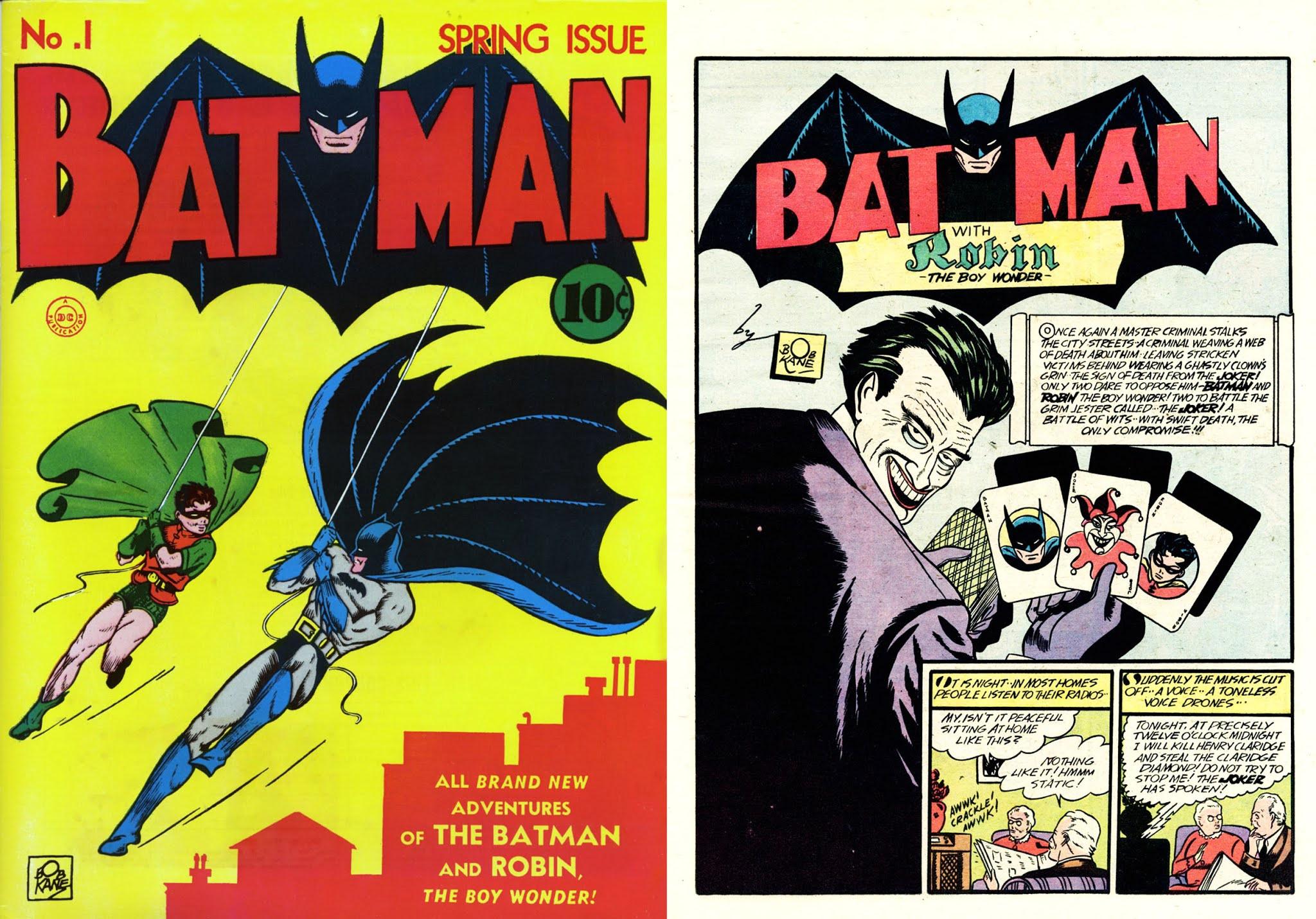 Batman 1 1940 prima apparizione Joker