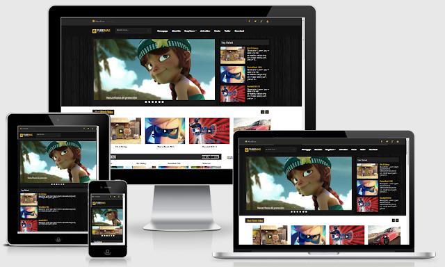 Download Template Tube Mag Redesign Responsive Blogger