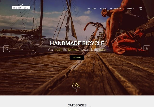 Bike Shop - eCommerce bootstrap template