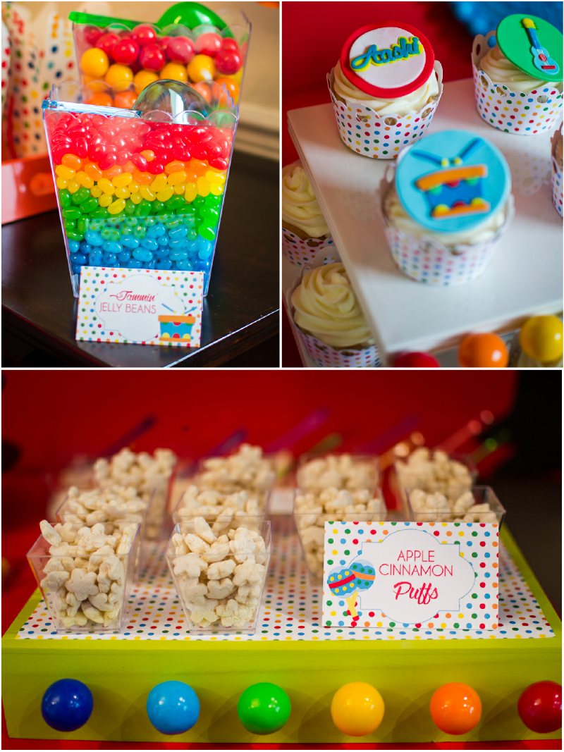Baby Jam: A Music Inspired 1st Birthday Party Food and Drinks Ideas - via BirdsParty.com