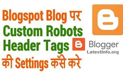 Custom Robots Header Tags: