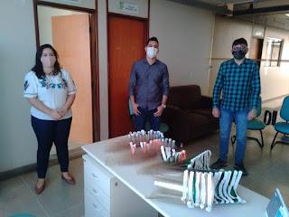IFPB: Campus Picuí doa Protetores Faciais para o Hospital Regional de Picuí