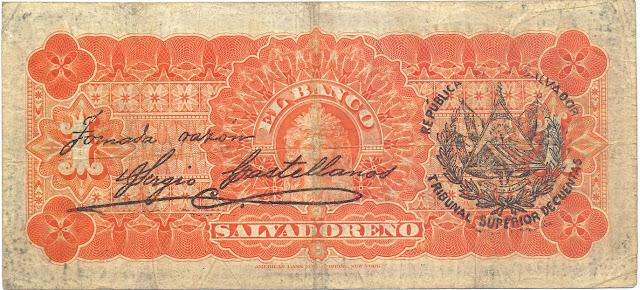 Banco Salvadoreño peso