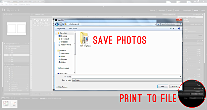 Lightroom Tutorial Print Module And Save For Print