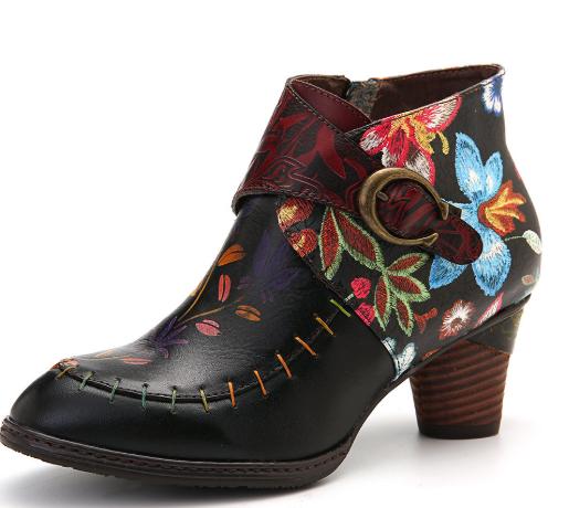 elegant strappy boots