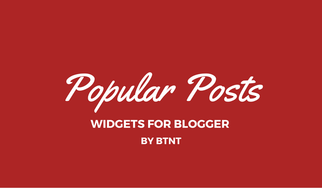 Popular Post widget for Blogger
