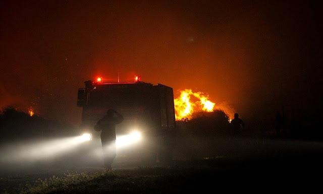 Φωτιά στην Αλβανία ...καπνοί και μυρωδιά σε χωριά των Ιωαννίνων