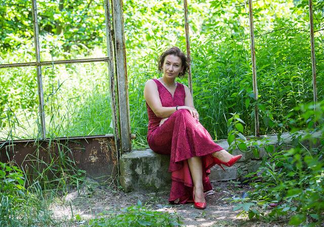 Adriana Style Blog, blog modowy Puławy, Czerwone Szpilki Zara, Red Carpet Maxi Dress, Red Wine Maxi Dress, Red Zara Heels, Sukienka Maxi, Sukienka Maxi Bonprix, Sukienka z Cekinami