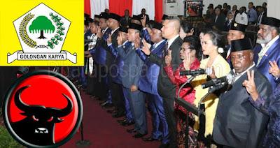 Jayapura, Dharapospapua.com - Sebanyak 40 Anggota DPRD Kota Jayapura periode 2019 – 2024, Senin (7/10) dilantik dan diambil sumpahnya berdasarkan surat keputusan Gubernur Papua Nomor : 155/261/tahun 2019 tentang peresmian keanggotaan Dewan Perwakilan Rakyat Daerah (DPRD) kota Jayapura periode tahun 2019-2024.    Adapun nama-nama anggota DPRD terpilih periode 2019-2004 yang dilantik antara lain:
