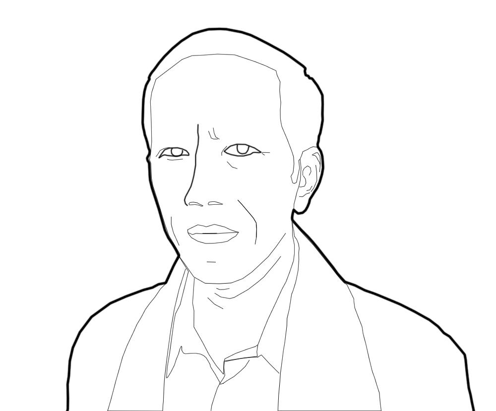 Sketsa Wajah Jokowi Hitam Putih