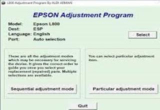Reset Printer Epson L800