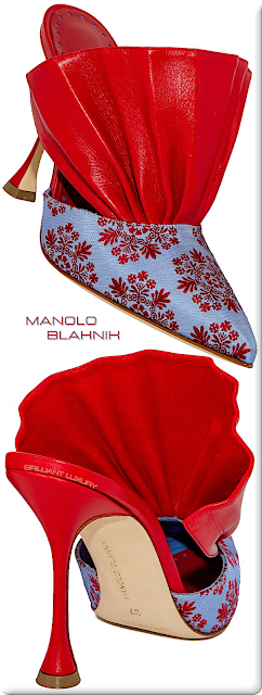 ♦Manolo Blahnik Anjou embroidered mules #manoloblahnik #shoes #redshoes #brilliantluxury