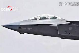 Varian Dua Kursi Pertama Pesawat Tempur Stealth J-20