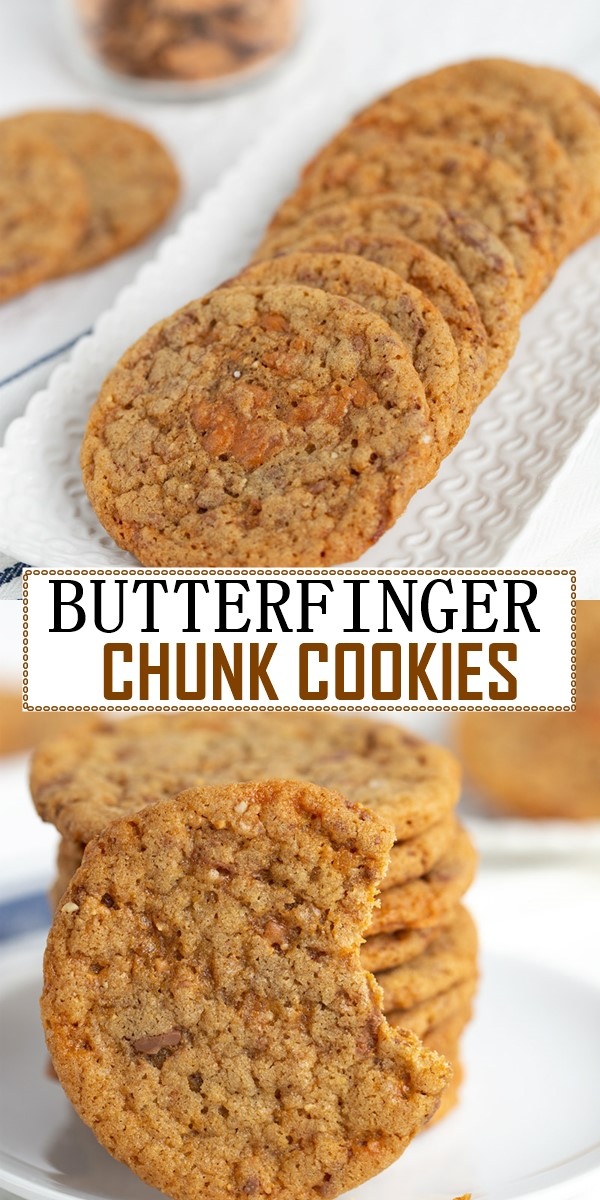 BUTTERFINGER CHUNK COOKIES #Cookiesrecipes