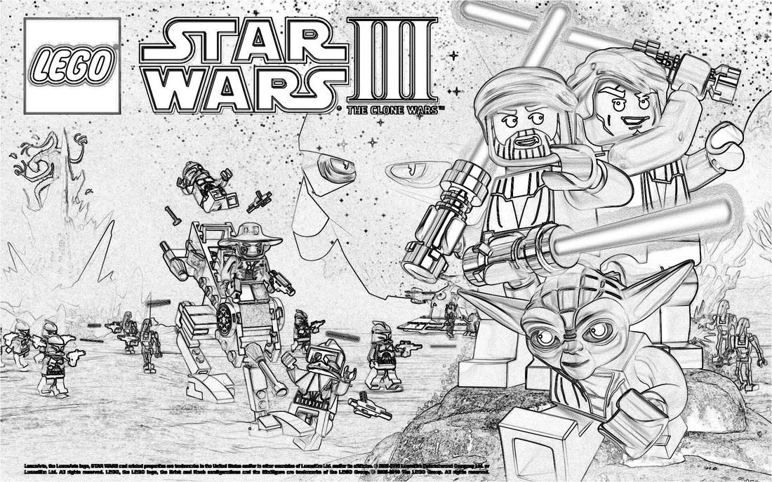Gratis Malvorlagen Star Wars