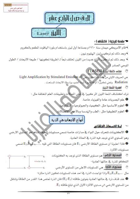 مراجعة الليزر من سلسلة سيجما في الفيزياء الحديثة لثالثة ثانوي %D8%A7%D9%84%D9%84%D9%8A%D8%B2%D8%B1_001