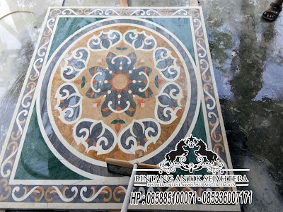 Border Inlay, Lantai Border Inlay, Lantai Motif Marmer Murah