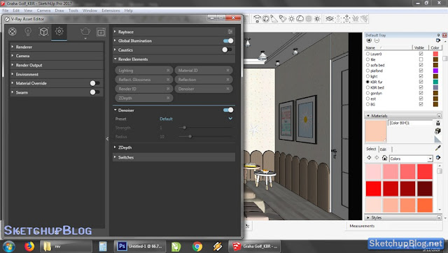 Tutorial Setting Render Element  Vray 3 Sketchup