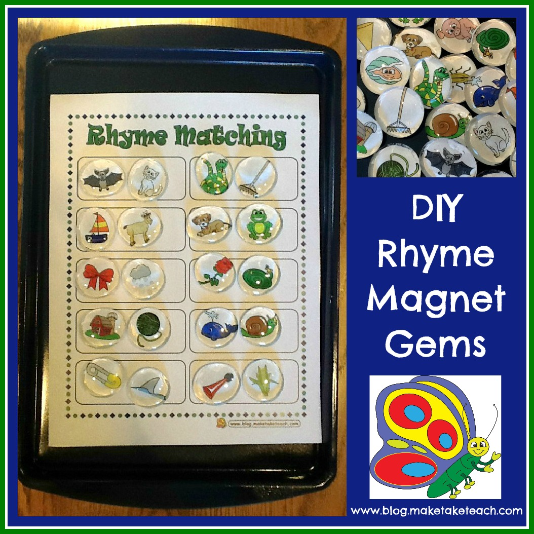 Classroom Freebies Too Rhyming Magnets