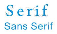Tips Trik Cara Mencari Font Serif Sans Serif