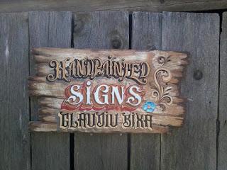 firme pictate pe lemn,