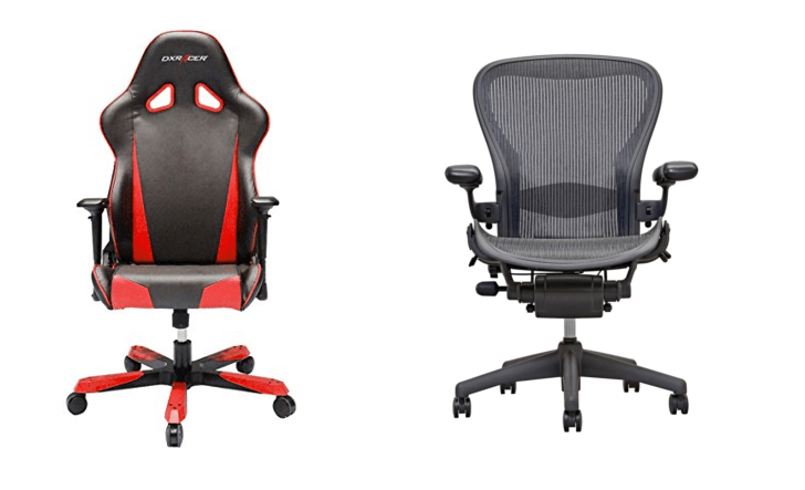 Difference b/w gaming chair & office chair