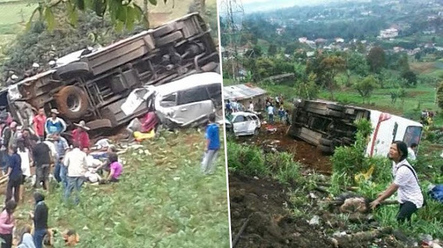 Kecelakaan Beruntun di Puncak Cipanas yang Tewaskan 13 Orang, Libatkan 9 Kendaraan