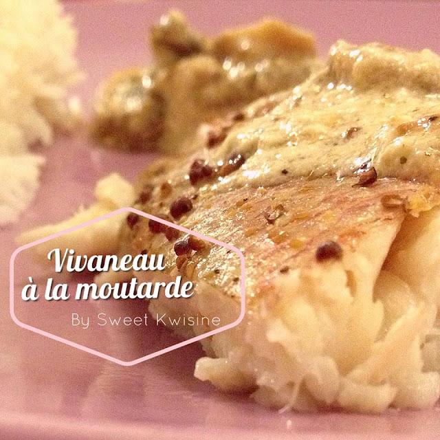 sweet kwisine, poisson, vivaneau, moutarde, champignon, déjeuner rapide, cuisson au four, cuisine facile