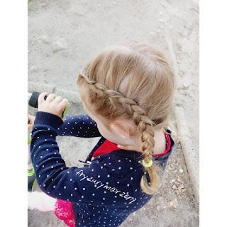 warkocze do przedszkola ,fryzura do przedszkola