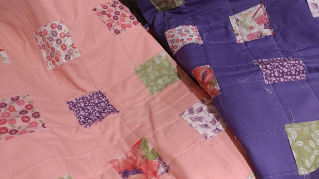 Quick and easy quilt-as-you-go baby quilts