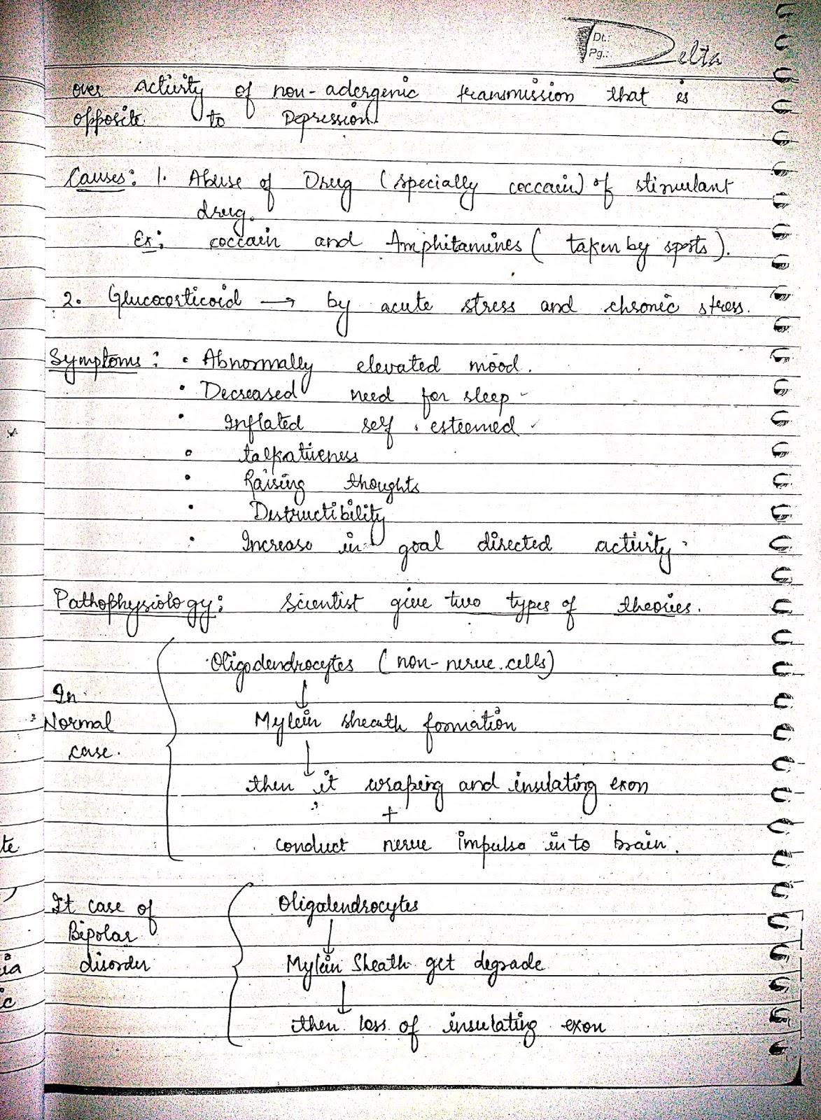 pathophysiology - nervous system disorder psychiatric disorder