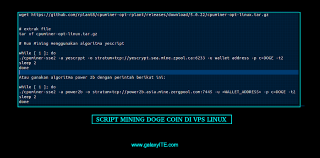 Script Mining DOGE Coin di VPS Linux