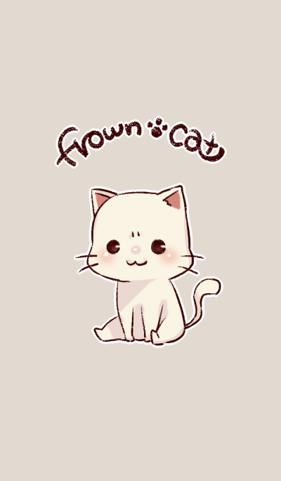 frown cat
