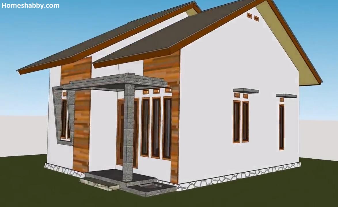 Desain Dan Denah Rumah Minimalis Ukuran 6 X 8 M Sederhana Tampak Lebih Lega Cocok Untuk Di Desa Homeshabby Com Design Home Plans Home Decorating And Interior Design