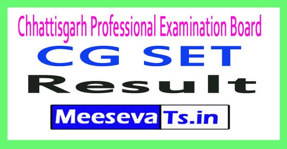 Chhattisgarh SET Result 2017 CG SET Result