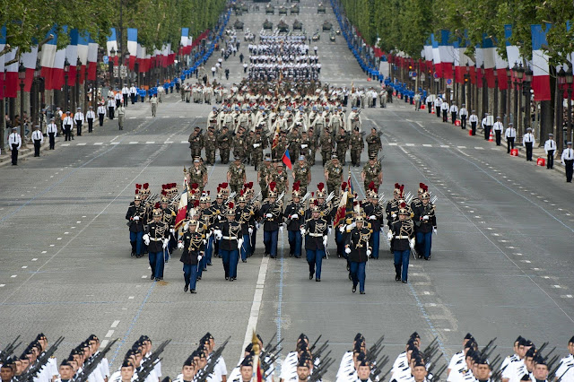 The July 14th Bastille Day Military Parade Held In Paris France
