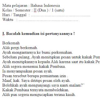 Soal-UKK-UTS-Bahasa-Indonesia-kelas-2-SD-Semester-1