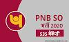 PNB SO  Online Form 2020