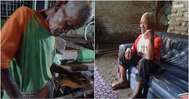 Bikin Terharu Melihat Mbah Slamet, Kakek Penjual Roti Bakar Keliling ini