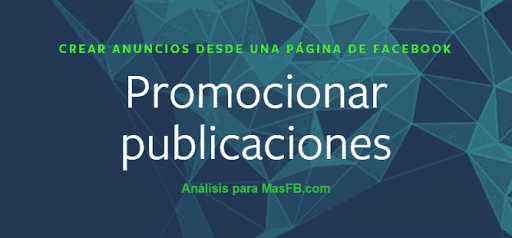 Promocionar Publicación - MasFB