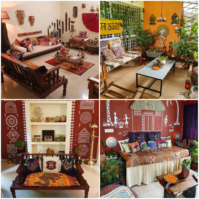 Reshma Kadvath's Fuji home with up cycled decor items and recycled furniture