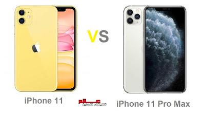 مقارنة بين هاتفي آيفون iPhone 11 و آيفون Apple iPhone 11 Pro Max مقارنة بين هاتفي آيفون Apple iPhone 11 و آيفون 11 برو ماكس Apple iPhone 11 Pro Max ماهو الفرق بين الفرق بين  آيفون iPhone 11 و iPhone 11 Pro Max