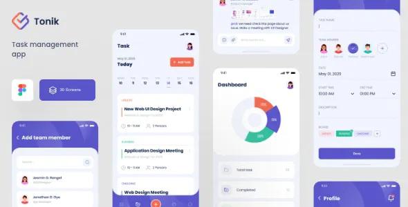 Best Task Management Figma App Template