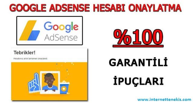 Google Adsense Başvuru Onay Yöntemi